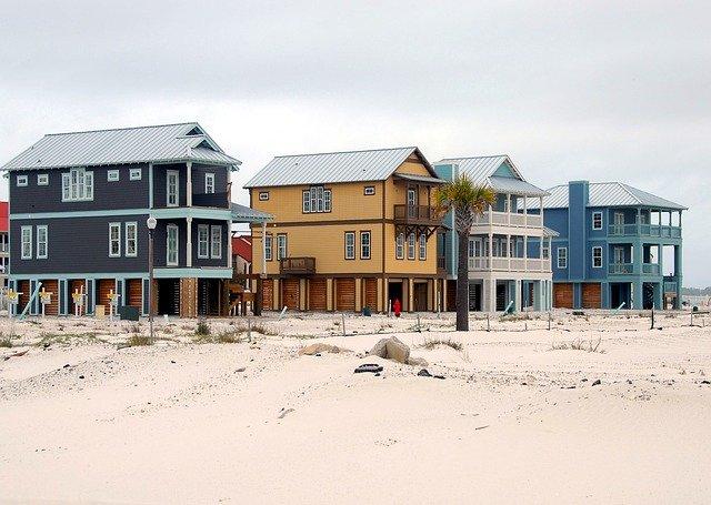domy na pláži