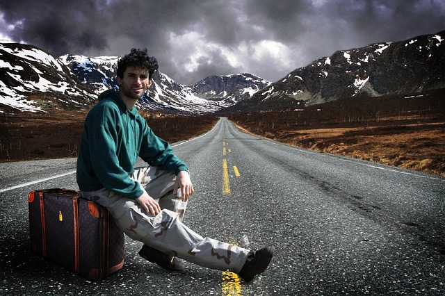 cestování nalehko v horách