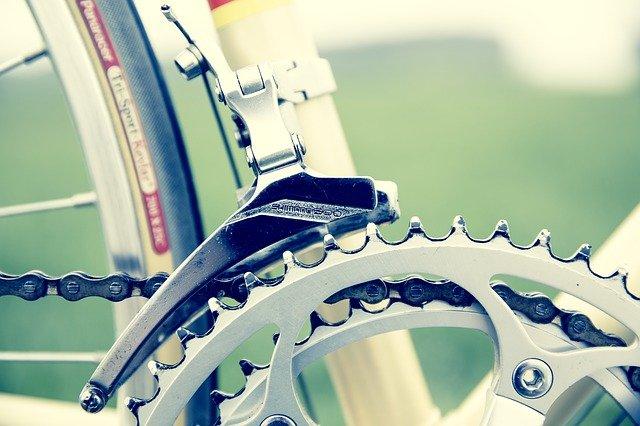 detail řetězu kola