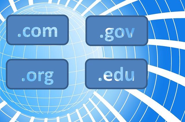 com, gov, org, edu
