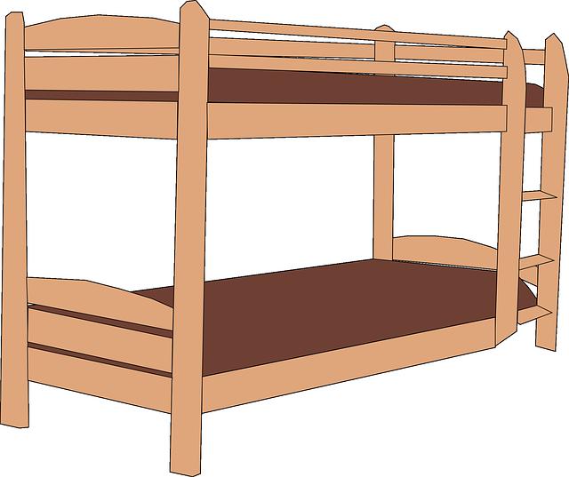 schůdky postele