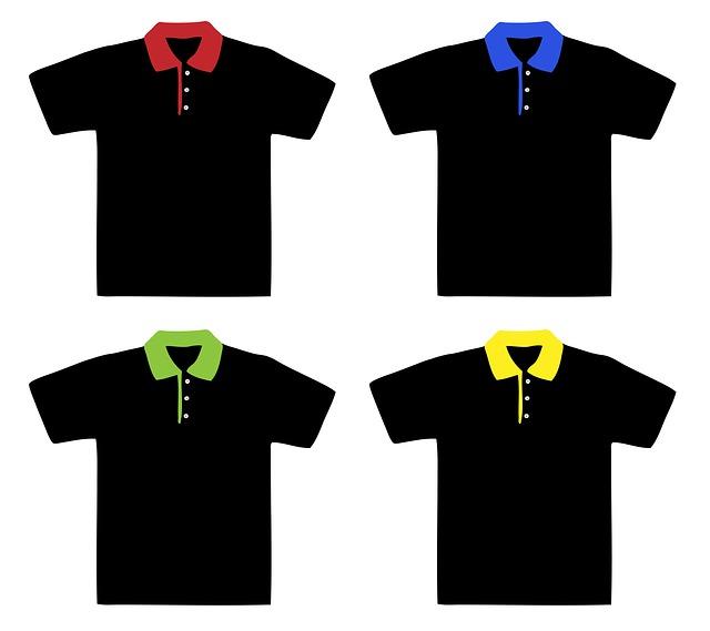polo trička s barevnými límečky vhodná pro potisk