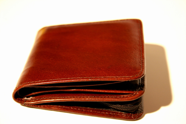 hnědá peněženka
