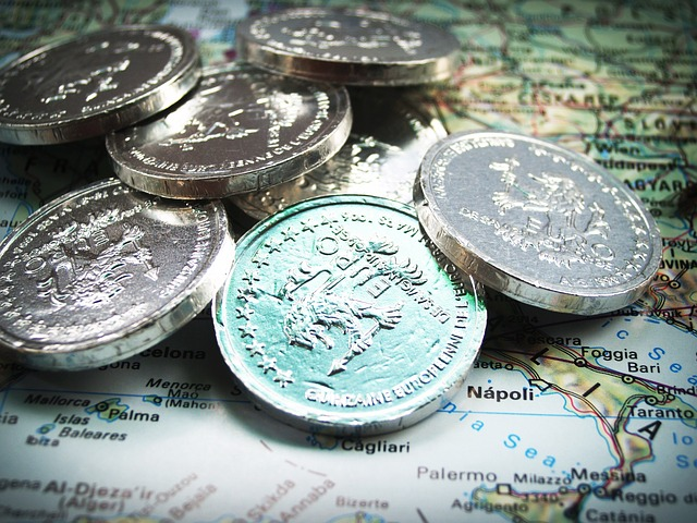 Měna zobrazená na mapě